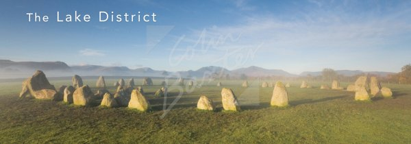 Castlerigg Stone Circle, Lake District Postcard (H Pan CB)