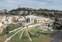 Scottish Parliament & Calton Hill, Edinburgh Postcard (H Std CB)