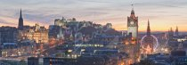 Edinburgh Castle, City Skyline at Dusk, Edinburgh Postcard (H Pa