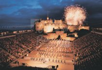 Edinburgh Castle & Military Tattoo, Edinburgh Postcard (H Std CB