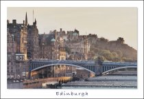 North Bridge, Old Town Buildings & Castle, Edinburgh Postcard (H
