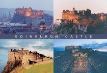 Edinburgh Castle Comp, Edinburgh Postcard (H Std CB)