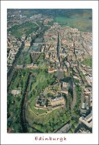 Edinburgh Castle & Royal Mile from Air, Edinburgh Postcard (V St