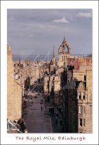 Royal Mile & St Giles' Cathedral, Edinburgh Postcard (V Std CB)