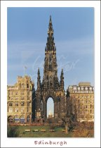 Scott Monument, Edinburgh Postcard (V Std CB)