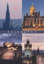 Edinburgh Spires & Tattoo Comp, Edinburgh Postcard (V Std CB)