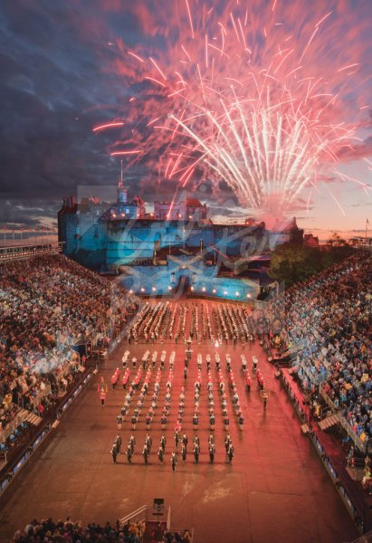 Royal Edinburgh Military Tattoo, Edinburgh 3 Postcard (V Std CB)