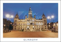 City Chambers & George Square, Glasgow Postcard (H Std CB)