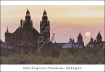 Kelvingrove Art Gallery & Museums at dusk, Glasgow Postcard (H S