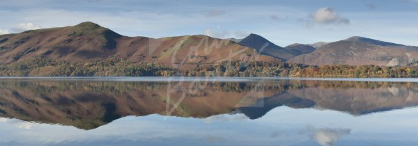 Derwent Water & Cat Bells, Lake District Postcard (H Pan CB)