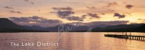 Ullswater at dusk from Pooley Bridge, Lake District Postcard (H