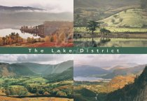 Derwent Water & Borrowdale Comp, Lake District Postcard (H Std C