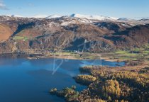 Derwent Water, High Seat & Helvellyn, Lake District Postcard (H