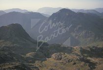 Great Gable from Scafell Pike, Lake District Postcard (H Std CB)