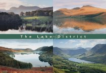 Lakes & Fells Comp, Lake District Postcard (H Std CB)