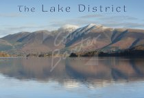 Skiddaw across Derwent Water, Lake District 1 Postcard (H Std CB