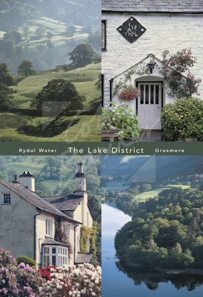 Rydal Water Comp, Lake District Postcard (V Std CB)
