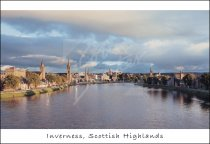 Inverness & River Ness, Highlands Postcard 1 (H Std CB)