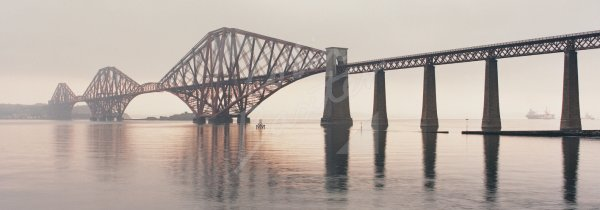Forth Bridge at Dawn Postcard (H Pan CB)