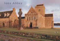 Iona Abbey Postcard (H Std CB)