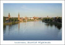 Inverness & River Ness, Highlands Postcard 2 (H Std CB)