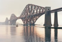 Forth Bridge at dawn Postcard (H Std CB)
