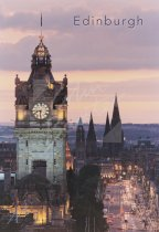 Princes Street at dusk, Edinburgh 2 Postcard (V Std CB)