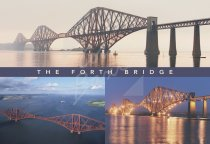 Forth Bridge & Firth of Forth Comp Postcard (H Std CB)
