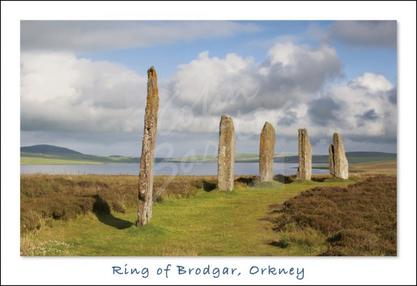 Ring of Brodgar, Mainland, Orkney 2 Postcard (H Std CB)