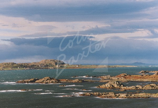 Iona & Sound of Iona from Erraid Postcard (H Std CB)