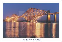 Forth Bridge at Dusk Postcard (H Std CB)