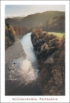 River Garry, Killicrankie, Perthshire Postcard (V Std CB)