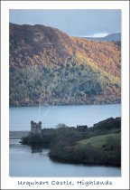 Urquhart Castle and Loch Ness Postcard (V Std CB)