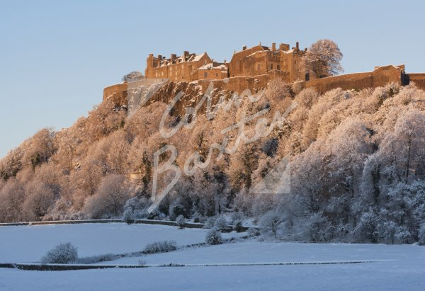 Stirling Castle (in Snow) Postcard (H Std CB)