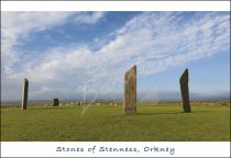 Stones of Stenness, Orkney Postcard (H Std CB)