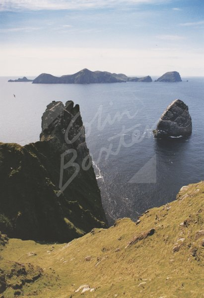 Hirta, Soay, Dun, Stac Lee from Boreray, St Kilda Postcard (V St