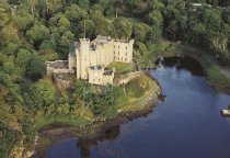 Dunvegan Castle, Isle of Skye From Air 1 Postcard (H Std CB)