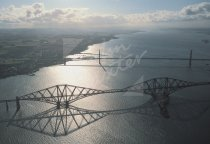 Forth Bridges From Air Postcard (H Std CB)