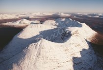 Beinn Eighe, Wester Ross From Air Postcard (H Std CB)