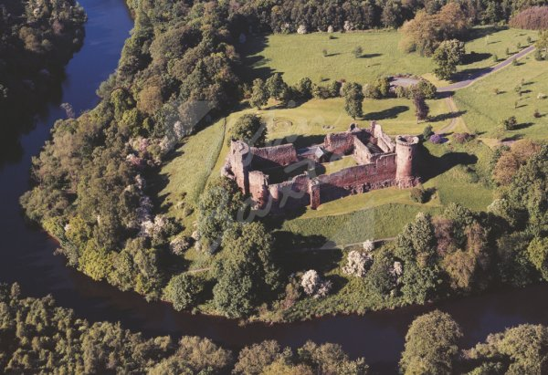 Bothwell Castle, Lanarkshire From Air Postcard (H Std CB)