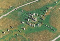 Calanais Standing Stones, Isle of Lewis From Air Postcard (H Std