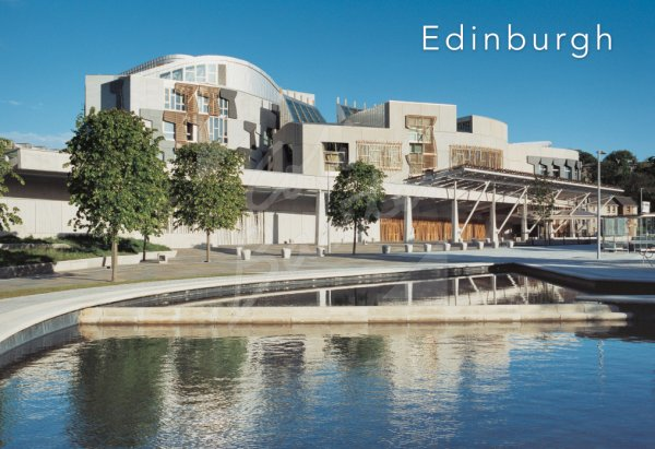 Scottish Parliament, Holyrood, Edinburgh 1 Postcard (H Std CB)