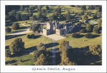 Glamis Castle, Angus From Air Postcard (H Std CB)