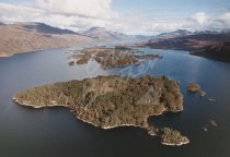 Loch Maree, Wester Ross From Air Postcard (H Std CB)