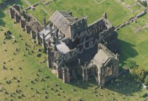 Melrose Abbey, Borders From Air Postcard (H Std CB)