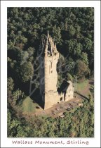 National Wallace Monument, Abbey Craig From Air Postcard (V Std