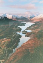 Glen Affric & Beinn Fhada, West Highlands From Air Postcard (V S