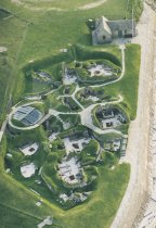 Skara Brae prehistoric village, Orkney From Air Postcard (V Std