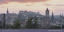 Edinburgh Castle & city from Calton Hill Postcard (H Vis CB)