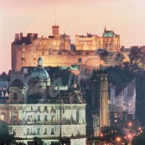Edinburgh Castle at dusk Greetings Card (CB)